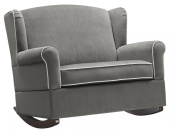 Baby Relax Lainey Wingback, Super-Wide Nursery Rocker, Graphite Grey - Colour