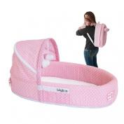 Premium Travel Infant Bed For Infants Toddler Baby Kids Lounge Pink Dots