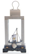 JustNile Nautical Candle Holder Table Top Lantern - Sailboat