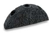 Gothic Endless Knot Design Triple Taper Candle Holder