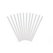 Plastic White Dowel Rods for Tiered Cake Construction, 30cm X 1/4, Pack of 12
