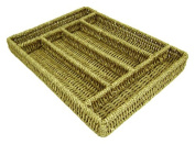 Mountain Woods 6 Compartment Natural Seagrass Silverware Tray
