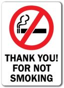 Thank You For Not Smoking Sign with Graphic - 25cm x 36cm OSHA Safety Sign