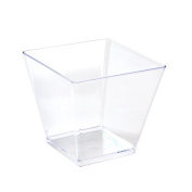 Fineline Settings 10-Piece Tiny Temptations Cube Bowl, 60ml, Clear