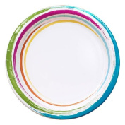 Nicole Home Collection 48 Count Dinnerware Paper Plate, 22cm , Brushstrokes