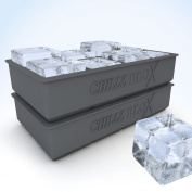 Chillz Blox Large Ice Cube Tray for Whiskey - Silicone Ice Mould Maker - Moulds 20cm X 5.1cm Ice Cubes