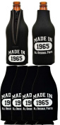 50th Birthday Gift Beer Bottle Coolie Made in 1965 6 Pack Bottle Drink Cooler...