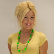 Green & Gold Light Up LED Bead Necklace