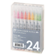 Common Japanese bamboo RB-6000AT/24V aqueous pen ZIG clean colour rial brush RB6000AT24V 24 colours set common Japanese bamboo Kuretake RB6000AT
