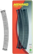MEHANO TRAIN LINE - HO Scale Accessories, BLISTER CURVED TRACK 30˚ / R 457,2mm, 4/1