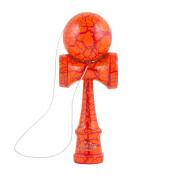 Aloha Kendamas Standard Kendama Crackle Orange/Red