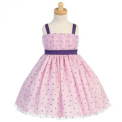 Lito Purple Heart Tulle Flower Girl Easter Dress Girls 6M-12