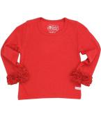 RuffleButts® Little Girls Ruffled Long Sleeve Undershirt Tee