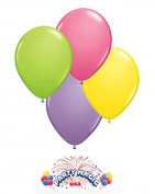 Qualatex 28cm Round Balloons, Spring Assortment - Pack of 100