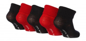 5 pairs JBB06 baby Jeep Boys TOT ankle socks Navy/ Red