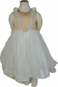 Girls Gold and Cream Scarf Dress 6-12 M- 7 years