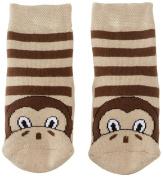 Country Kids Slipper Monkey Animal Print Socks