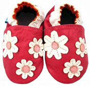 MiniFeet Soft Leather Baby Shoes, Delightful Daisy