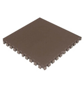 Interlocking Foam Mats EVA Foam Floor Mats (4 Tiles) Brown