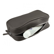 Lucrin - Small toilet bag - Smooth cow - Leather - Dark grey