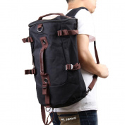 Vktech Men Vintage Canvas Backpack Rucksack Laptop Shoulder Outdoor Duffle Bag