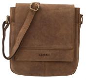 """LEABAGS - Unisex Leather Flapover Shoulder Bag """"WASHINGTON"""" Vintage Style made of Genuine Buffalo Leather"""