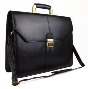 Unisex Faux Leather Executive Business Satchel Bag Work Briefcase