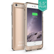iPhone 6 Plus Battery Case, ZVOLTZ ZT6+ iPhone 6 Plus Battery Case (14cm ) [1 Year WARRANTY] - [Champagne Gold/Clear] - 4000mAh External Protective iPhone 6 Plus Charger Case / iPhone 6 Plus Charging Case Extended Backup Battery Pack Cover Case Fi ..