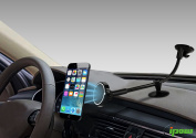 Ipow Magnetic Cradle-less Windshield Long Arm Car Mount Holder Cradle with Ultra Dashboard Base for iPhone 7/6s/5s, Samsung S7/S6/S5/S4 edge 7, Nexus 5/4, LG G3, HTC and GPS