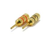 Monoprice 1 Pair of High-Quality Copper Speaker Plugs - Pin Crimp Type