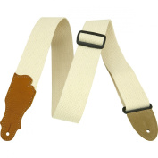 Franklin Strap 5.1cm Natural Cotton Guitar Strap with Leather Ends