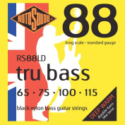 Rotosound RS88LD Black Nylon Flatwound Bass Guitar Strings