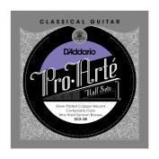 D'Addario SCX-3B Pro-Arte Silver Plated Copper on Composite Core Classical Guitar Half Set, Extra Hard Tension