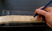 60cm Fretting Scale Marking Template for Guitars - Laser-cut-Acrylic - Popular Scale used on National(TM) and Paul Reed Smith(TM) Guitars