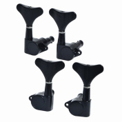 1set of 2R2L Guitar Bass Tuner Machine Heads Tuning Pegs Black High Quality