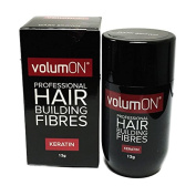 Volumon Professional Hair Building Fibres- Hair Loss Concealer- KERATIN- 12g- BLACK