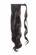 MapofBeauty Long Curly Velcro Strap Warp Around Ponytails Hair Extensions