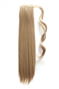 MapofBeauty Long Straight Velcro Strap Warp Around Ponytails Hair Extensions