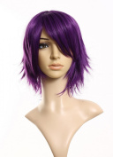 INHDBOX Cosplayland - C197 40cm layered flip out heat-resist Theatre Cosplay Wig - Purple