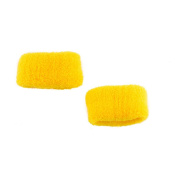 Yellow Large Set of 2 soft hair ponio band Hair Donut Bobbles Band
