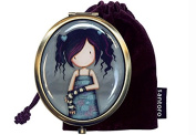 Santoro Gorjuss Compact Mirror with Keepsake Bag - Lost for Words