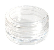 Pack of 3 - 3mL Empty SMALL PLASTIC CLEAR JAR Container for Cosmetic/Craft/Travel/Lip Balm by JTshop