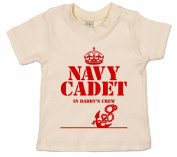 IiE, Navy Cadet in Daddy's Crew, Baby Unisex Boy Girl T-shirt