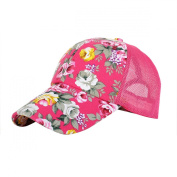 Eforstore Snapback Baseball Cap Floral Perforated Ball Caps Golf Hats Summer Mesh Hat for Women Teens Girls