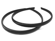 2 PACK BACK TO SCHOOL COLOURS GIRL HAIR ACCESSORIES SATIN ALICEBANDS HEADBAND APPROX.1CM WIDE