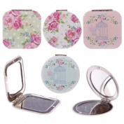 Laura Bell Chintz Floral Birdcage Compact Mirror