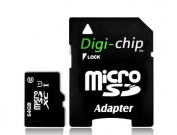 Digi-Chip 64GB CLASS 10 Micro-SD Memory Card for Sony Xperia Z4 and C4 Mobile Phone