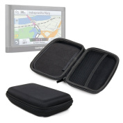 DURAGADGET Premium Quality 18cm Hard EVA Satnav Storage Case in Black for Garmin Nuvi 65LM / 66LM / 2659LM - With Dual Zip Closure and Internal Divided Storage Compartments