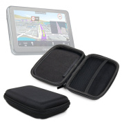 DURAGADGET High Quality 18cm Hard EVA Satnav Storage Case in Black for Vexia Navlet 2 HD / Vexia Navlet S & WinCe GS-003 GPS Systems - With Dual Zip Closure and Internal Divided Storage Compartments