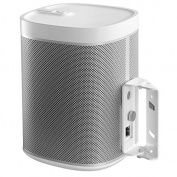 Cavus Surround Sound Swivel Wall Mount Suitable for Sonos Play:1 White with 15 degrees Tilt